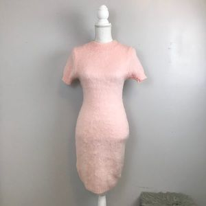 Moda International Pink Fuzzy Dress